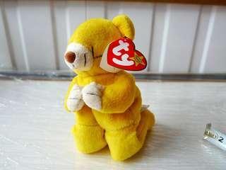 BNWT TY Beanie Hope Bear Prayer 1998 Plush Stuffed Toy