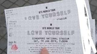 BTS World Tour Single Ticket for Sale (Genuine Seller)