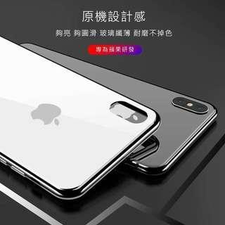 🚚 iPhone XR 鋼化玻璃手機殼/黑