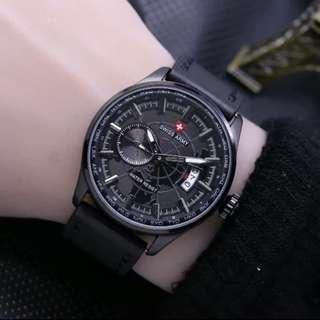 Jam tangan Swiss world series leather
