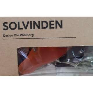 Ikea SOLVINDEN Solar-powered light chain with 5 bird clips