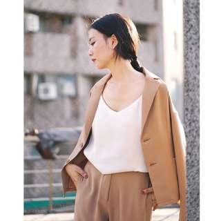 (全新) 沁涼感時髦西裝套裝 西裝外套 西裝長褲 Meier.Q 大饅大力聯名款