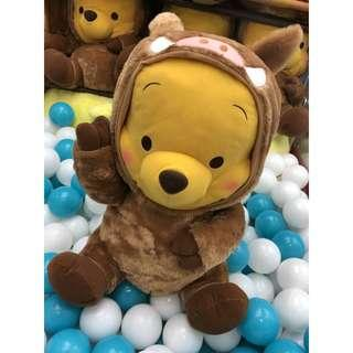 🚚 Toreba Japan Disney Winnie the Pooh In Wild Boar Red Cheeks Giga Jumbo Outfit Plushy