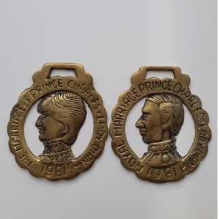 1981年查爾斯王子和戴安娜王妃的皇家婚姻紀念黄銅馬飾