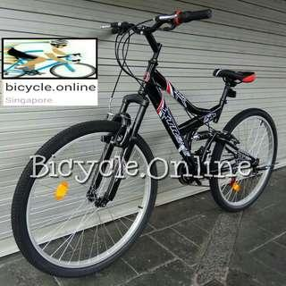 "Full Suspension 26"" Mountain Bike ✩ 18 Speeds, Nice Sporty Frame ✩ Brand New Bicycle, Xtreme *Taiwan"