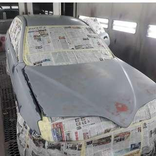 spray paint change color