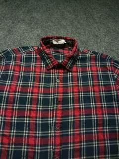 ZALORA Flannel Shirt Long Sleeve Size M