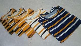 Spandex Striped Shirts