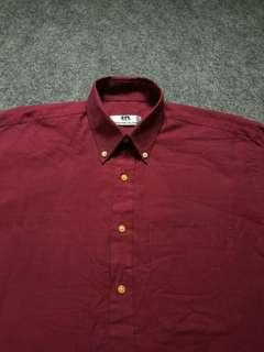 HARDY AMIES Button-down Shirt Long Sleeve Size L