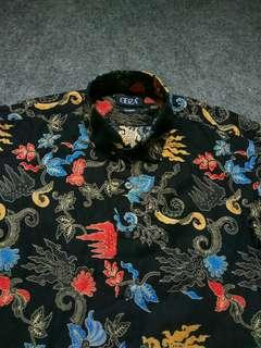 ODZA Print Cotton Shirt Short Sleeve Size M