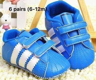 Blue prewalker shoes size 6-12m