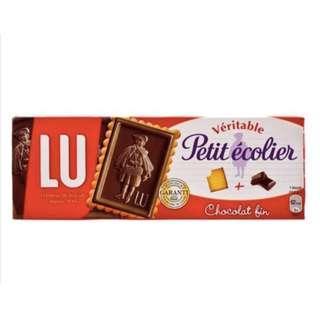 現貨 + 預購 🇪🇸 LU Petit écolier 黑巧克力 法國LU小學生巧克力餅乾 法國黑巧克力餅乾 LU