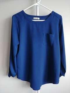 Blue blouse (Van Heusen)