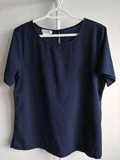 Navy blue blouse (Van Heusen)