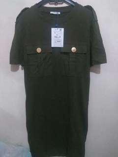 Dress zara trafalug original and new
