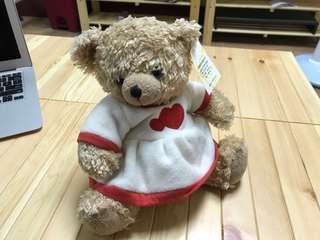 🚚 全新愛心洋裝 女孩小熊娃娃 玩偶
