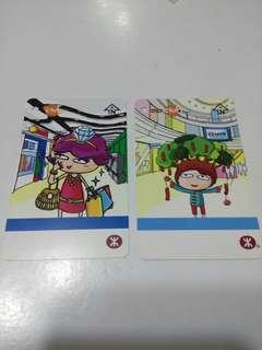 (包平郵)香港地鐵特別版車票(2009年)2張