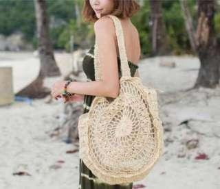 Knitted woven large tote summer beach bag preorder