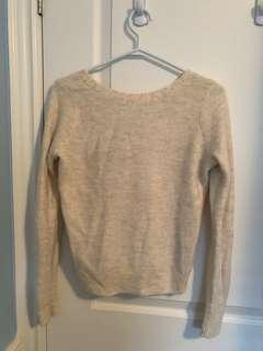 Abercrombie and Fitch V-Back Knit Sweater