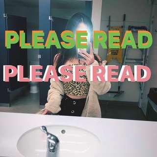 Please read 🥰