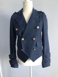 Smythe Navy linen military jacket size 2