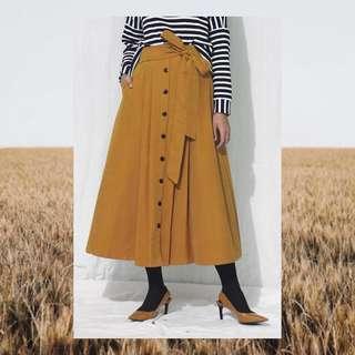 #bersihbersih Bow Skirt Mustard