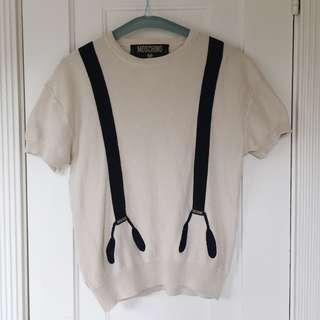Vintage Moschino Suspender Knit Top