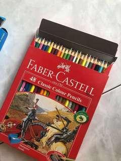 FREE GIVEAWAY!!! FABER CASTELL 48 COLOUR PENCILS