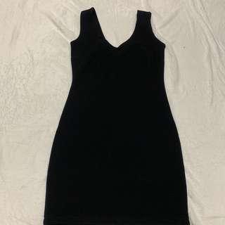 Forever 21 Black Vneck Dress