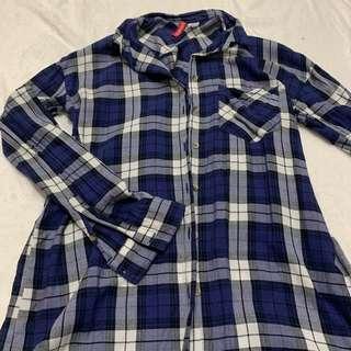 H&M Plaid Button Down Shirt