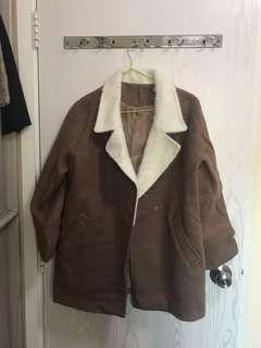啡色外套 呢外套 大衣