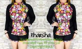 🌻 Plus Size Parsha Rashguard  🌿Price: 520 pesos only 🌿Size: Freesize or Onesize Only 🌿Size Range: Best fit from 2XL to 4XL Body Frame 🌿Fabric: Spandex
