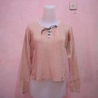 Tshirt lace peach
