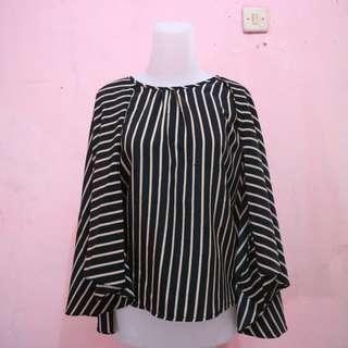 Blouse cape stripe
