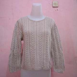 Sweater pink nude