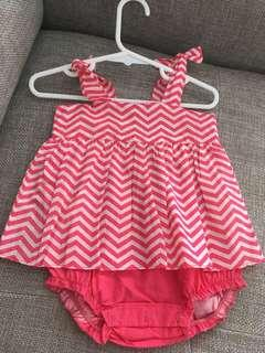 BNWT Double layer romper 6-12