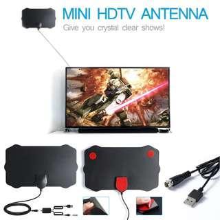 120 Miles TV Antena 1080P Digital HDTV Indoor TV Antenna With Amplifier Signal Booster Radius Surf Fox HD Mini Antennas Aerial