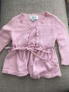 Pre Owned Bebe Soft pink cardigan