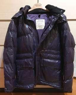 Men's dark purple premium down jacket 男裝羽絨外套