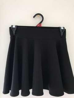 ⭐️ K-Style Black Skater Skirt