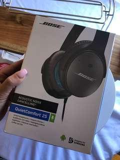 Brand new QuietComfort® 25 Acoustic Noise Cancelling™ Bose headphones