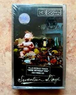 Kaset Pita 3 Doors Down - Seventeen Days 📼 Baru/New/Sealed