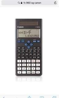 Looking for Canon fx 960sg calculator