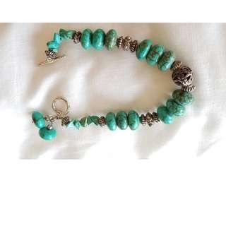 #2 Alluring boho style turquoise bracelet