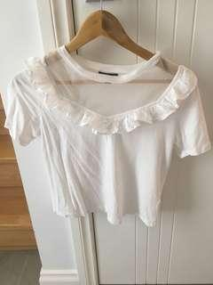 Top Shop - White Top - Size S