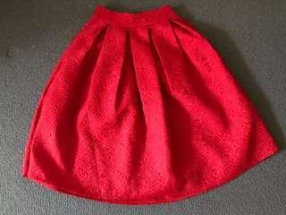Pleated high waisted A line maxi skirt