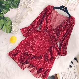 Star wrap dress