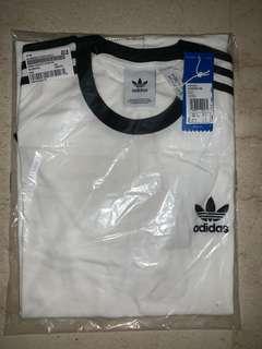 Authentic Adidas 3 Stripes Tee White