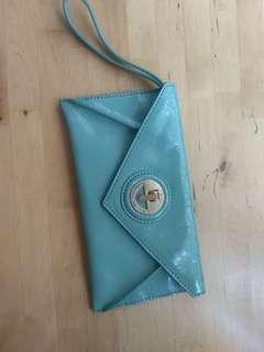 Mimco Envelope Clutch (mint green)