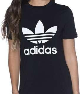 Black adidas trefoil tee
